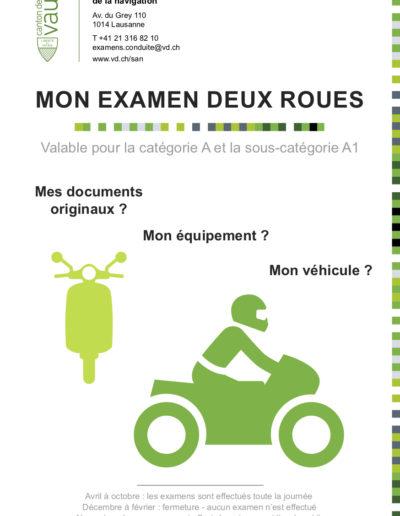 Brochure examen 2 roues