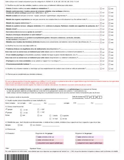 Formulaire de demande de permis d'élève conducteur 2